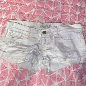 Abercrombie White Shorts